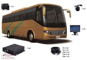 Видеонаблюдение на пассажирский автобус категории М3 с установкой