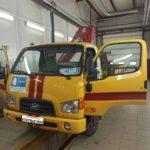 Установка тахографа Меркурий ТА-001 с СКЗИ на грузовой автомобиль Hyundai HD35City