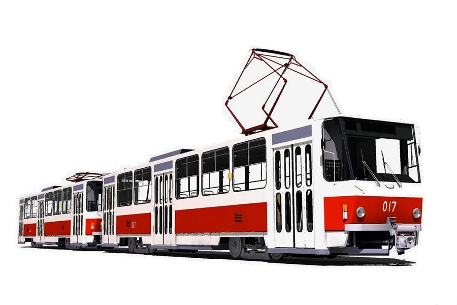 Трамвай сдвоенный